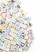 Abc english alphabet as background Stock Photos