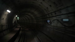 Moving through the underground tunnel Stock Footage