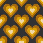 Seamless Colorful Abstract Pattern from Repetitive Hearts Stock Illustration