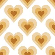 Seamless Colorful Abstract Pattern from Repetitive Hearts - stock illustration