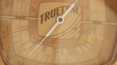 Old Vintage Antique Wooden Vintage Radio Stock Footage