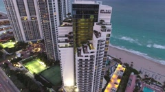 Aerial video Trump Towers Sunny Isles Beach Stock Footage