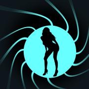 Vector silhouettes of sexy woman. - stock illustration
