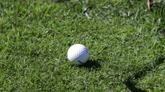 Practice Golf Ball Close Up Stock Footage