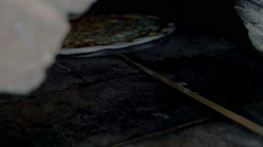 Delicious cheese pizza is ready Stock Footage