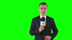 Broadcast Journalist - stock footage
