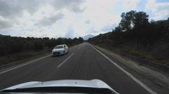 Driving on Mountain Road on Island Crete Greece Stock Footage