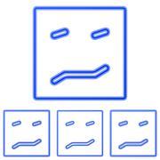 Blue line fear logo design set Stock Illustration