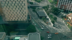 Stock Video Footage of Roma Street From Top Museum of Brisbane 4K