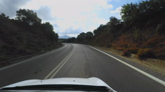 Driving with Roof Camera on Island Crete Greece Stock Footage