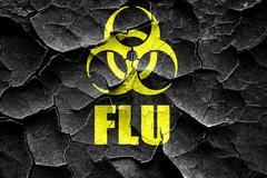 Grunge cracked Influenza virus concept background Stock Illustration