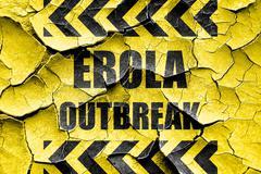 Grunge cracked Ebola outbreak concept background Stock Illustration