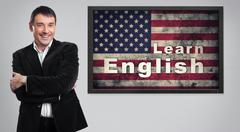 Distance Learning english concept Stock Photos