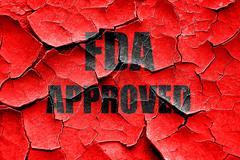 Grunge cracked FDA approved background - stock illustration