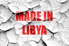 Stock Illustration of Grunge cracked Made in libya
