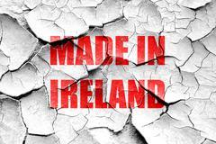 Grunge cracked Made in ireland - stock illustration