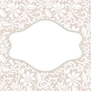 card with lace - stock illustration