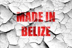 Stock Illustration of Grunge cracked Made in belize