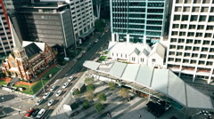 Albert Street Uniting Church From Top Museum of Brisbane 4K Stock Footage