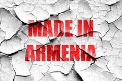 Grunge cracked Made in armenia Stock Illustration