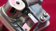 4K - Music box workings. I can't help falling in love. Stock Footage