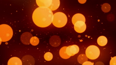 Gold Circle Glitters Loopable Background Stock Footage