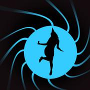 Vector silhouettes of woman. Piirros