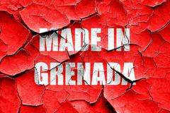Grunge cracked Made in grenada - stock illustration