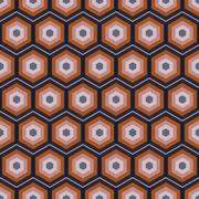 Seamless Geometric Abstract Pattern from Colorful Hexagons - stock illustration
