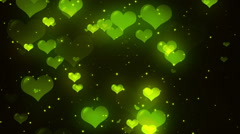 Green Valentine Hearts Background Loopable Background Stock Footage