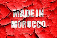 Stock Illustration of Grunge cracked Made in morocco