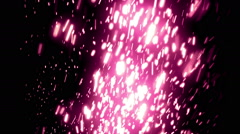 Purple Elegant Falling Particles Loopable Background Stock Footage
