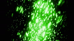 Green Elegant Falling Particles Loopable Background Stock Footage