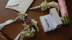 Wedding details on the small table Arkistovideo