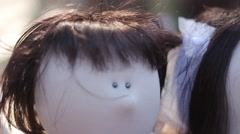 Puppet couple Stock Footage