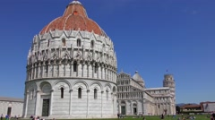 4K footage of the Pisa Baptistry of St. John on April 2015, in Pisa, Italy. Stock Footage