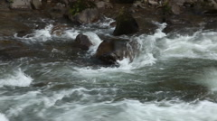 Rushing river waters Stock Footage
