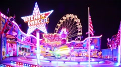 Carousels spinning around Stock Footage