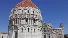 4K footage of the Pisa Baptistry of St. John on in Pisa, Italy. Stock Footage