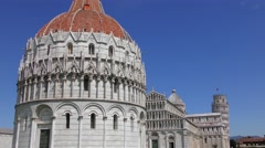 4K footage of the Pisa Baptistry of St. John on April 22, 2015, in Pisa, Italy. Stock Footage