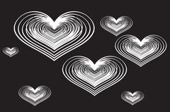Vector background with hearts. Stock Illustration