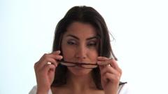 Woman wearing sunglasses Stock Footage