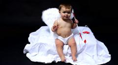 Little Cupid - stock footage