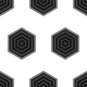 Seamless Black and White Geometric Pattern from Hexagons Stock Illustration