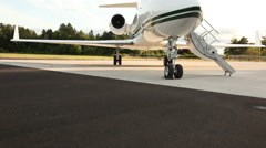 Corporate jet Stock Footage