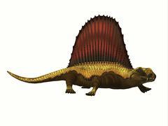 Dimetrodon Reptile Profile - stock illustration