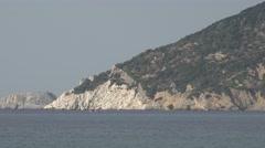 4K Beautiful coast Skiathos Island Greece destination tourism attraction wild  Stock Footage