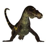 Nothosaurus on White Stock Illustration