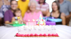 Family birthday party - stock footage