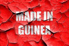 Grunge cracked Made in guinea Stock Illustration
